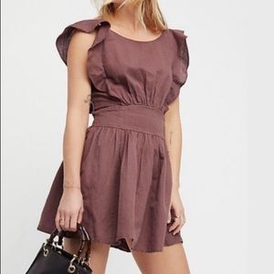 Free People Collette Linen Dress NWT